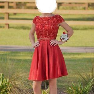 Beautiful red Sherri Hill 2 piece size 00